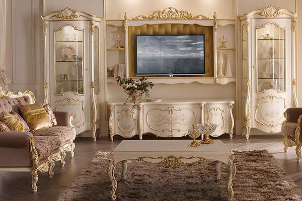 Гостиная MONNALISA купить в салоне-студии мебели Барселона mnogospalen.ru много спален мебель Италии классические современные