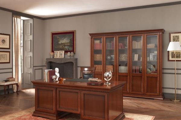 Кабинет Palazzo Ducale ciliegio купить в салоне-студии мебели Барселона mnogospalen.ru много спален мебель Италии классические современные