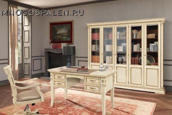 Кабинет Palazzo Ducale laccato купить в салоне-студии мебели Барселона mnogospalen.ru много спален мебель Италии классические современные