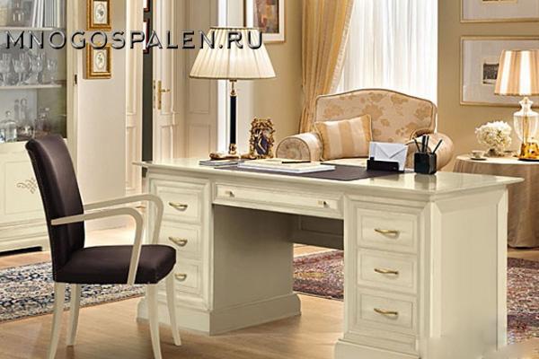 Кабинет VIRGILIO LACCATO купить в салоне-студии мебели Барселона mnogospalen.ru много спален мебель Италии классические современные