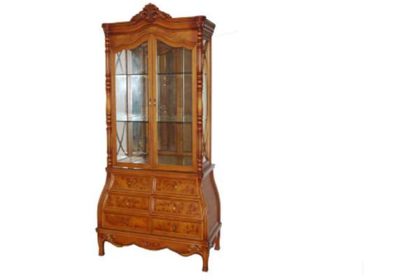Витрина 2-х дверная Victoria купить в салоне-студии мебели Барселона mnogospalen.ru много спален мебель Италии классические современные