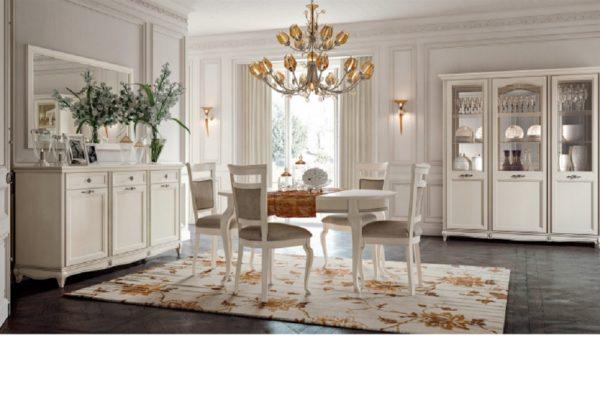 Гостиная Portofino bianco купить в салоне-студии мебели Барселона mnogospalen.ru много спален мебель Италии классические современные