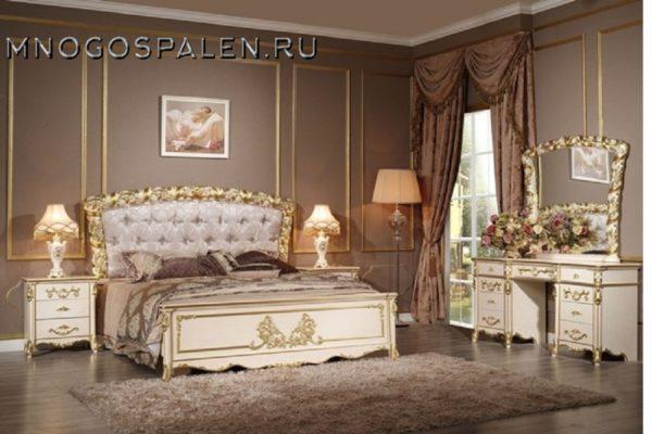 Спальня FIORA CASA купить в салоне-студии мебели Барселона mnogospalen.ru много спален мебель Италии классические современные