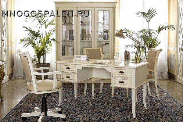 КАБИНЕТ PUCCINI BIANCO купить в салоне-студии мебели Барселона mnogospalen.ru много спален мебель Италии классические современные