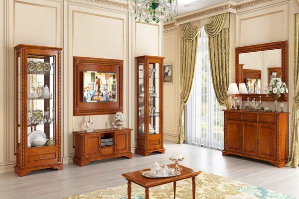 Гостиная La Scala купить в салоне-студии мебели Барселона mnogospalen.ru много спален мебель Италии классические современные