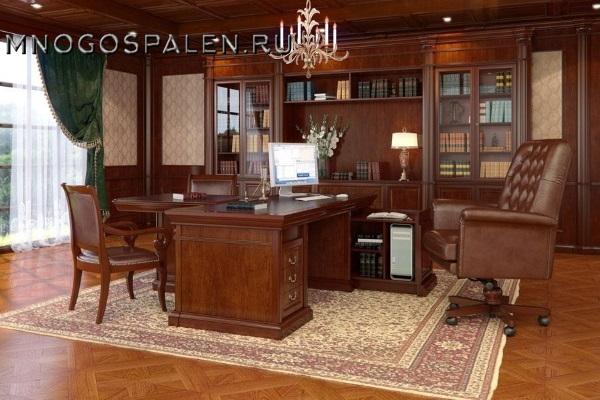 Кабинет Monarch купить в салоне-студии мебели Барселона mnogospalen.ru много спален мебель Италии классические современные