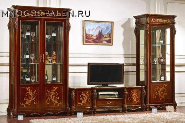 ГОСТИНАЯ EKATERINA II купить в салоне-студии мебели Барселона mnogospalen.ru много спален мебель Италии классические современные