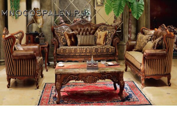 Диван  BRIGITTE купить в салоне-студии мебели Барселона mnogospalen.ru много спален мебель Италии классические современные