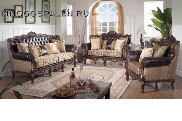 Диван  Felice-1 Gold купить в салоне-студии мебели Барселона mnogospalen.ru много спален мебель Италии классические современные