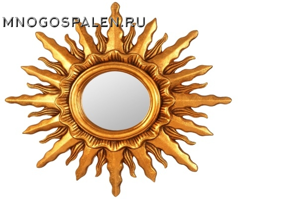 Зеркало-солнце Mirax Gold купить в салоне-студии мебели Барселона mnogospalen.ru много спален мебель Италии классические современные