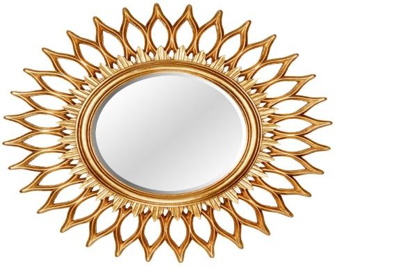 Зеркало-солнце GoldStar купить в салоне-студии мебели Барселона mnogospalen.ru много спален мебель Италии классические современные