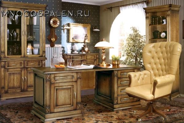 Кабинет Верди купить в салоне-студии мебели Барселона mnogospalen.ru много спален мебель Италии классические современные