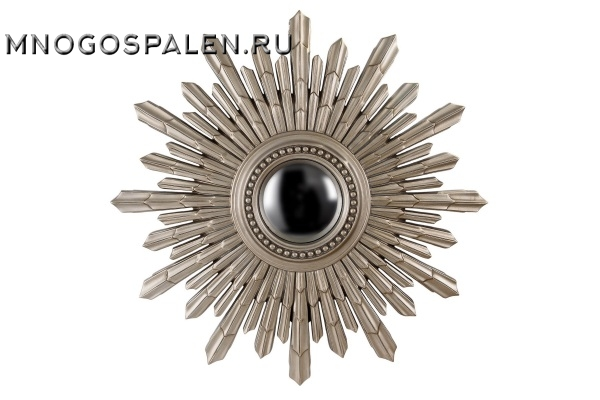 Зеркало-солнце New Solar Silver купить в салоне-студии мебели Барселона mnogospalen.ru много спален мебель Италии классические современные
