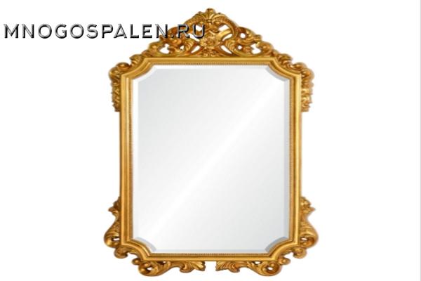 Зеркало Sophia A88045-1 золото купить в салоне-студии мебели Барселона mnogospalen.ru много спален мебель Италии классические современные