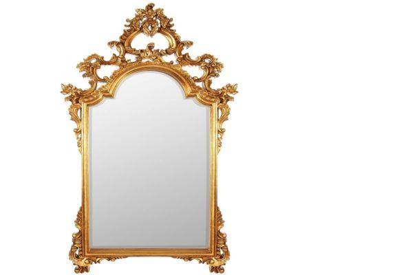 Зеркало в резной раме Pretty Gold купить в салоне-студии мебели Барселона mnogospalen.ru много спален мебель Италии классические современные