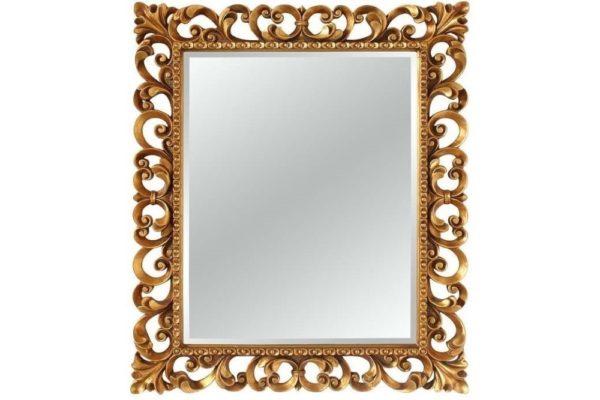 Зеркало в резной раме Bristol Gold купить в салоне-студии мебели Барселона mnogospalen.ru много спален мебель Италии классические современные