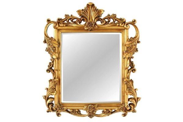 Зеркало в резной раме Juno Gold купить в салоне-студии мебели Барселона mnogospalen.ru много спален мебель Италии классические современные