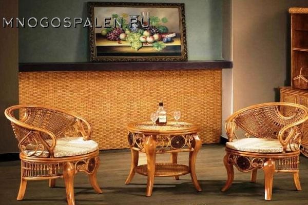 Комплект мебели из ротанга арт.3030 купить в салоне-студии мебели Барселона mnogospalen.ru много спален мебель Италии классические современные