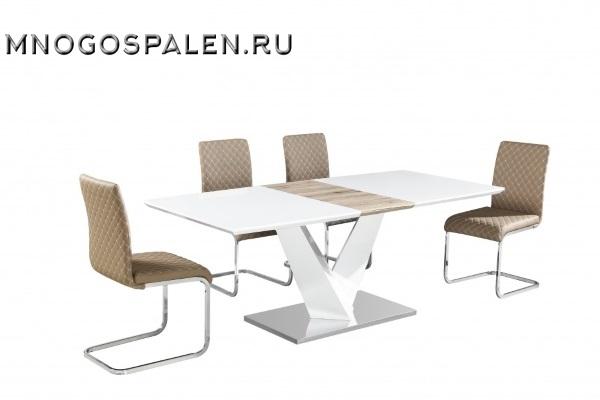 СТОЛ MK-5700-WT купить в салоне-студии мебели Барселона mnogospalen.ru много спален мебель Италии классические современные