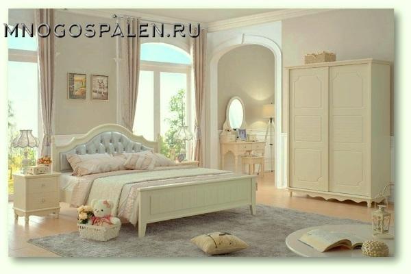 Спальня  Emilia MK-4611-IV. купить в салоне-студии мебели Барселона mnogospalen.ru много спален мебель Италии классические современные