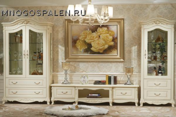Гостиная Милано купить в салоне-студии мебели Барселона mnogospalen.ru много спален мебель Италии классические современные