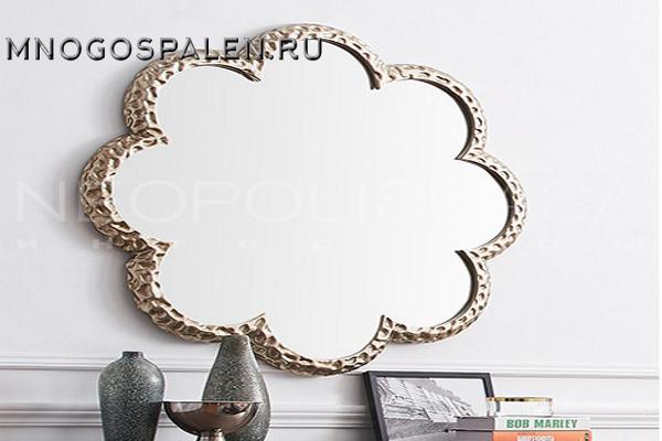 Зеркало отделка серебряное напыление купить в салоне-студии мебели Барселона mnogospalen.ru много спален мебель Италии классические современные