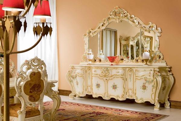 Гостиная Мирабелла  3907 купить в салоне-студии мебели Барселона mnogospalen.ru много спален мебель Италии классические современные