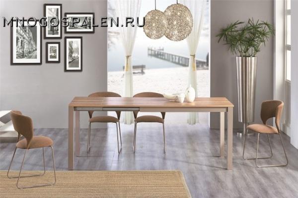 Стол прямоугольный раскладной MK-5905-WD купить в салоне-студии мебели Барселона mnogospalen.ru много спален мебель Италии классические современные