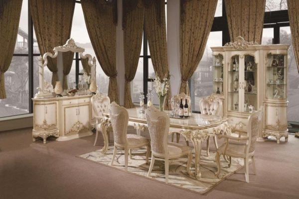 Гостиная Кассиопея  3902 купить в салоне-студии мебели Барселона mnogospalen.ru много спален мебель Италии классические современные