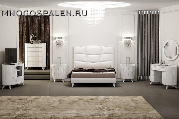 Спальня Diamante white купить в салоне-студии мебели Барселона mnogospalen.ru много спален мебель Италии классические современные