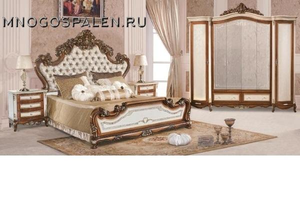 Спальня Екатерина 3906 купить в салоне-студии мебели Барселона mnogospalen.ru много спален мебель Италии классические современные