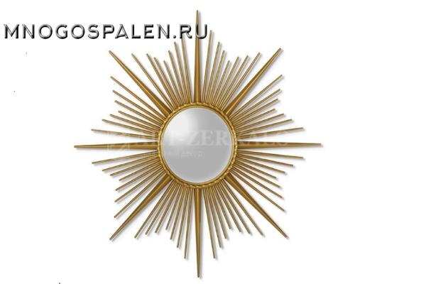 Зеркало-солнце в металлической раме Cassiopeia (Кассиопея) купить в салоне-студии мебели Барселона mnogospalen.ru много спален мебель Италии классические современные