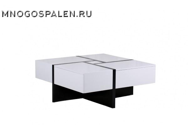 Журнальный стол MK-5804-WT купить в салоне-студии мебели Барселона mnogospalen.ru много спален мебель Италии классические современные