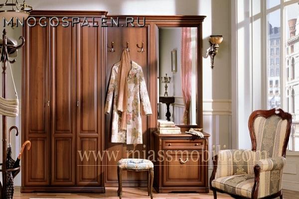 ПРИХОЖАЯ JOCONDA ОРЕХ MIASSMOBILI купить в салоне-студии мебели Барселона mnogospalen.ru много спален мебель Италии классические современные