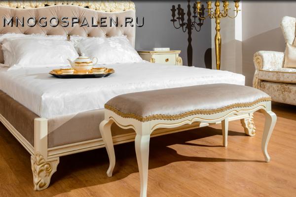 БАНКЕТКА LIRA купить в салоне-студии мебели Барселона mnogospalen.ru много спален мебель Италии классические современные