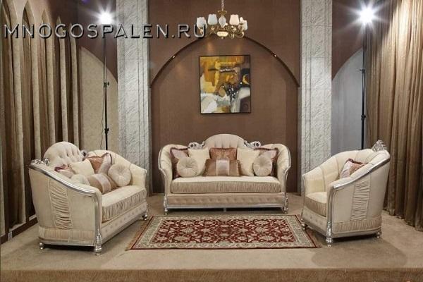 Диван PALACE 1 купить в салоне-студии мебели Барселона mnogospalen.ru много спален мебель Италии классические современные