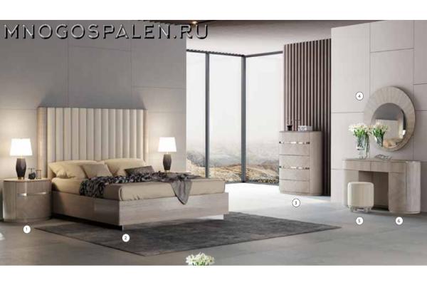 Спальня GILLIAN купить в салоне-студии мебели Барселона mnogospalen.ru много спален мебель Италии классические современные