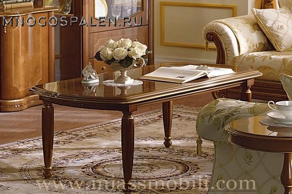 Стол журнальный орех MiassMobili купить в салоне-студии мебели Барселона mnogospalen.ru много спален мебель Италии классические современные