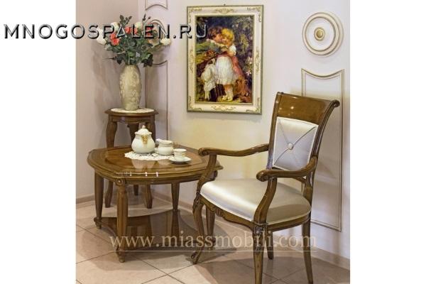 Стол журнальный квадратный орех MiassMobili купить в салоне-студии мебели Барселона mnogospalen.ru много спален мебель Италии классические современные