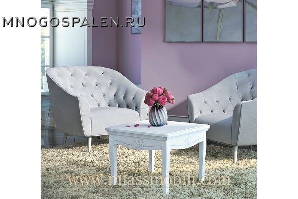 Столик квадратный Viola MiassMobili купить в салоне-студии мебели Барселона mnogospalen.ru много спален мебель Италии классические современные
