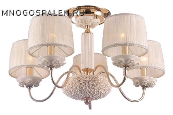 Потолочная люстра Crystal Lux Adagio Pl5 купить в салоне-студии мебели Барселона mnogospalen.ru много спален мебель Италии классические современные