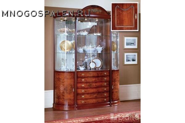 Витрина №527 Пекан купить в салоне-студии мебели Барселона mnogospalen.ru много спален мебель Италии классические современные