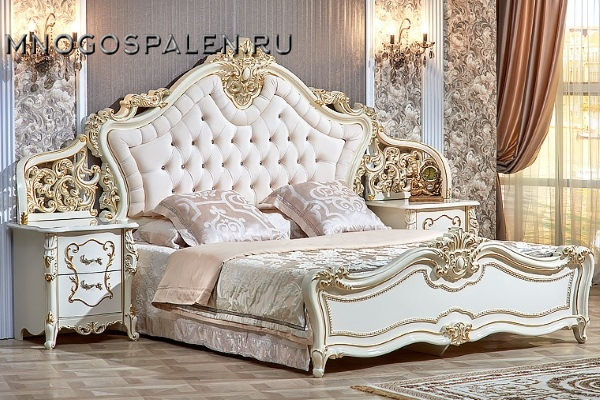 Спальня Джоконда крем купить в салоне-студии мебели Барселона mnogospalen.ru много спален мебель Италии классические современные