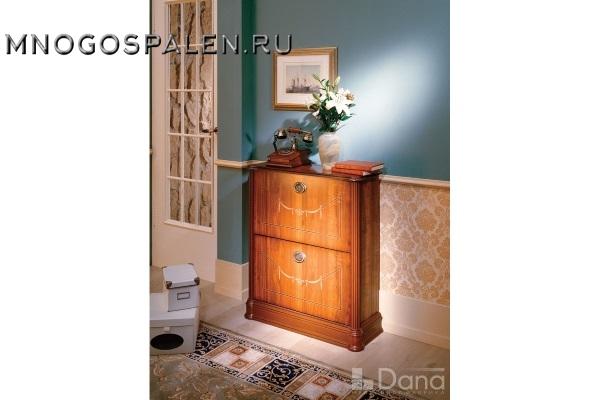 Обувница №543 Пекан купить в салоне-студии мебели Барселона mnogospalen.ru много спален мебель Италии классические современные
