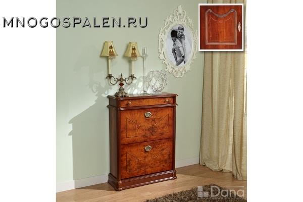 Обувница №743 Пекан купить в салоне-студии мебели Барселона mnogospalen.ru много спален мебель Италии классические современные