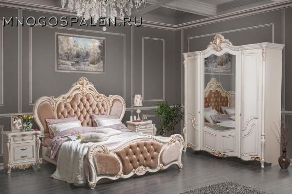 Спальня Беатрис купить в салоне-студии мебели Барселона mnogospalen.ru много спален мебель Италии классические современные