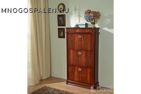 Обувница №745 Пекан купить в салоне-студии мебели Барселона mnogospalen.ru много спален мебель Италии классические современные
