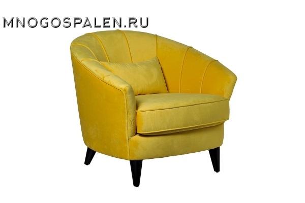 Кресло велюровое желтое ZW-555-06476 купить в салоне-студии мебели Барселона mnogospalen.ru много спален мебель Италии классические современные