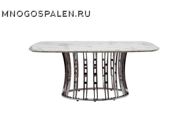 Стол обеденный светло-серый (натуральный камень) 45EX-DT122 купить в салоне-студии мебели Барселона mnogospalen.ru много спален мебель Италии классические современные