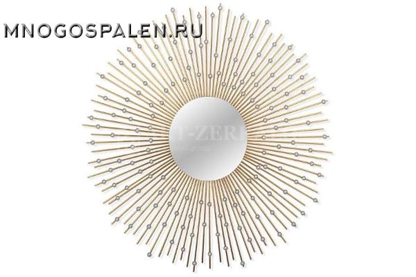 Зеркало-солнце в металлической раме Raindrops купить в салоне-студии мебели Барселона mnogospalen.ru много спален мебель Италии классические современные